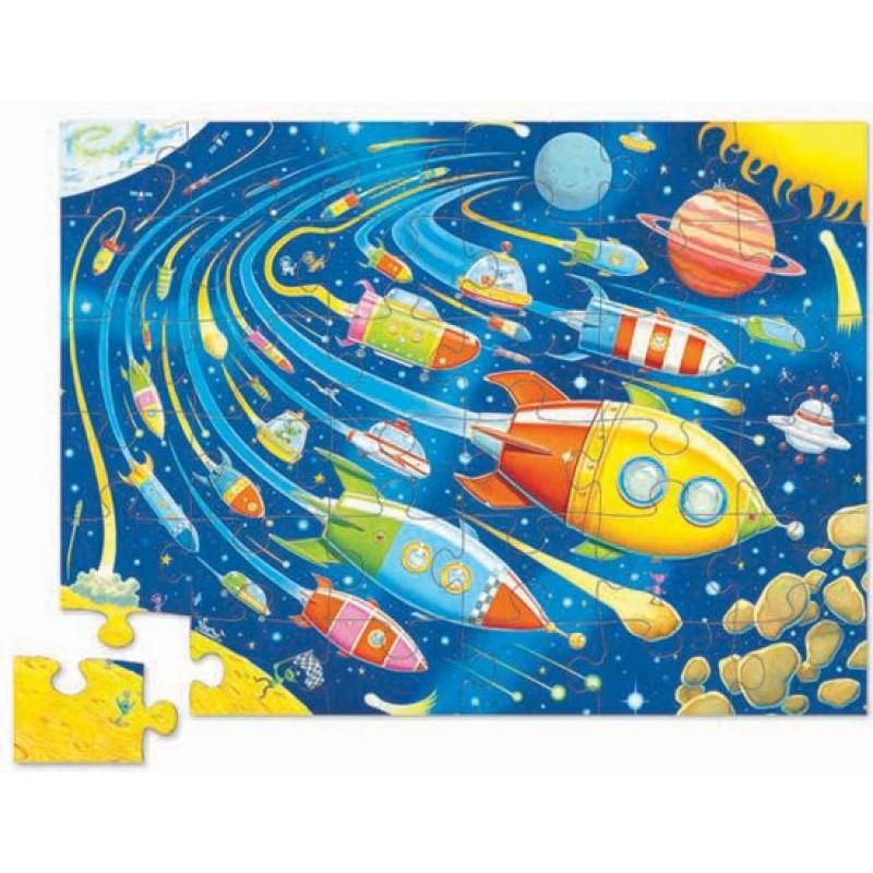 Puzzel Space Race 24 st, Crocodile Creek