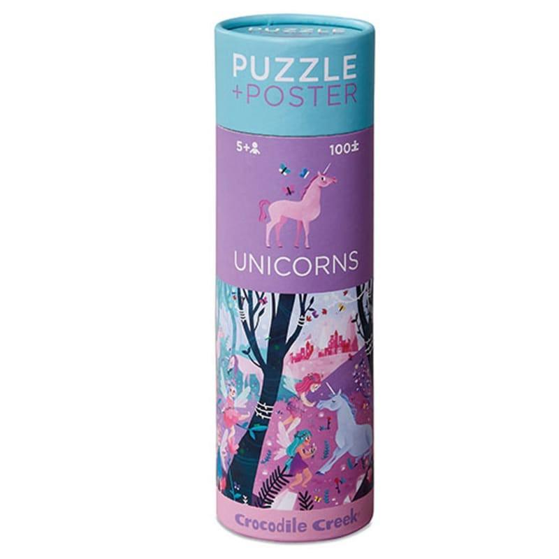 Puzzel & poster Eenhoorns 100 st, Crocodile Creek