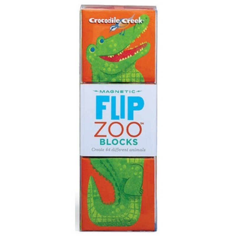Flip Zoo Rainforest magnetische blokpuzzel, Crocodile Creek