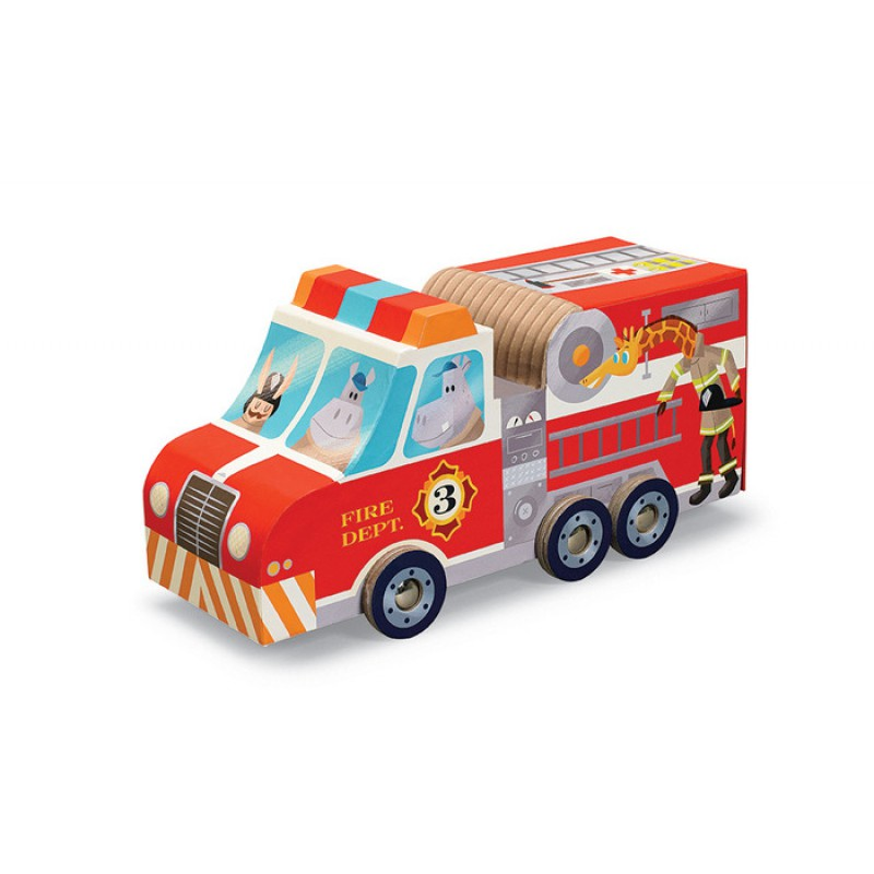 Puzzle & Play brandweerwagen, Crocodile Creek