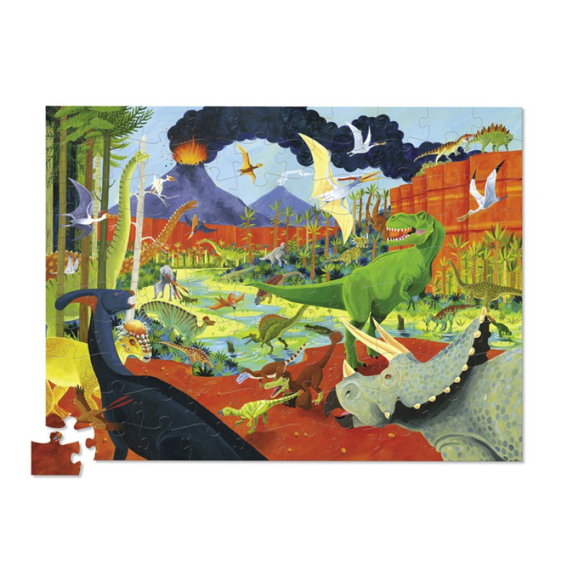 36 Dino's puzzel 100 stukjes, Crocodile Creek