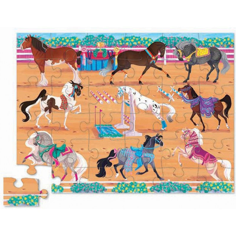 Vloerpuzzel Horse Dreams 36 stukken, Crocodile Creek