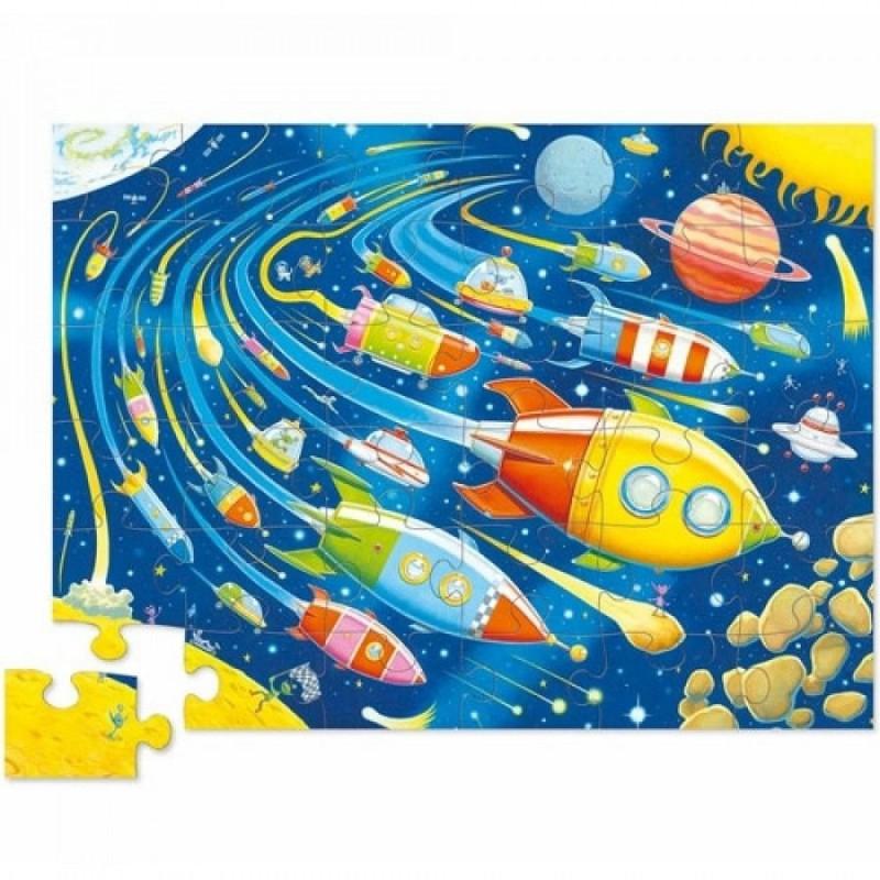 Vloerpuzzel Space Race 36 stukken, Crocodile Creek