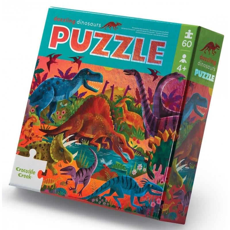 Folie puzzel Dazzling Dinosaurs 60 st, Crocodile Creek