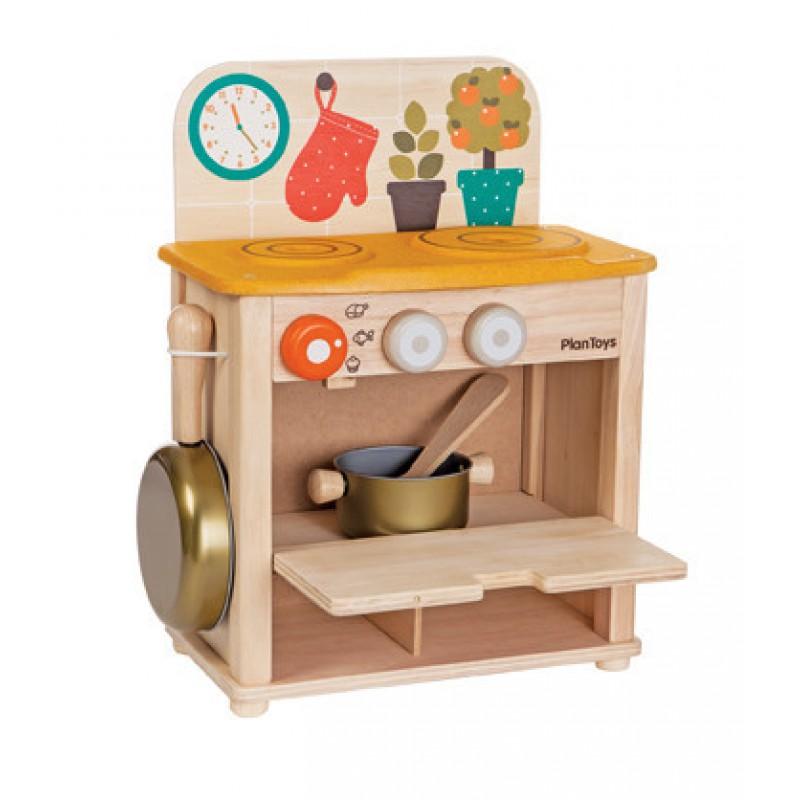 Cook & Stove minikeukentje, Plan Toys