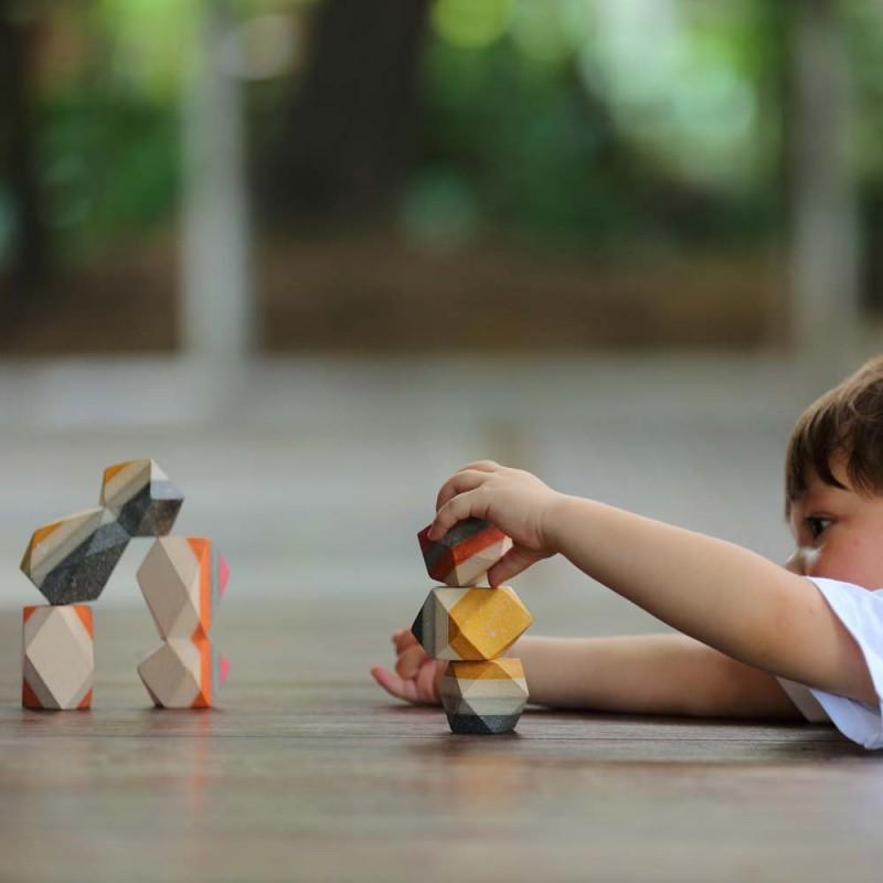 Geo stapelstenen, Plan Toys