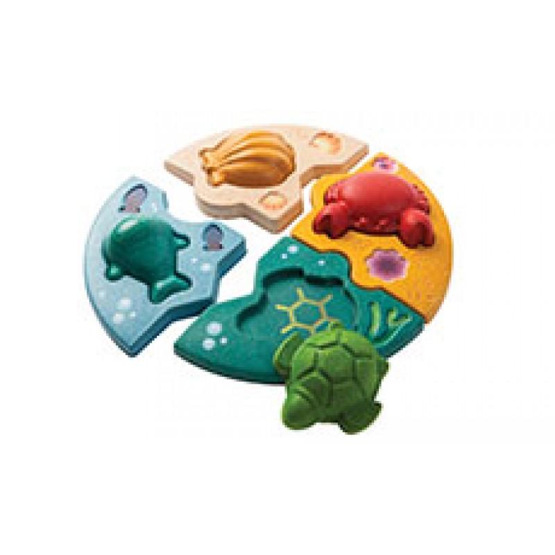 Zeedieren puzzel, Plan Toys