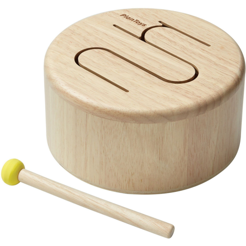 Houten trommel naturel, Plan Toys