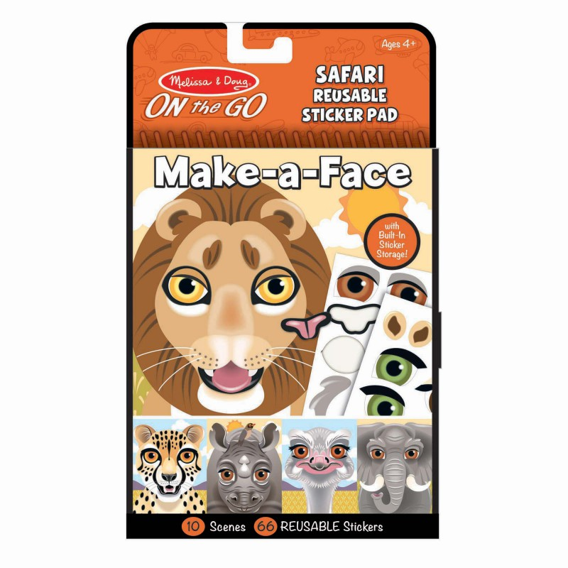 Herbruikbaar stickerblok safari, Melissa & Doug