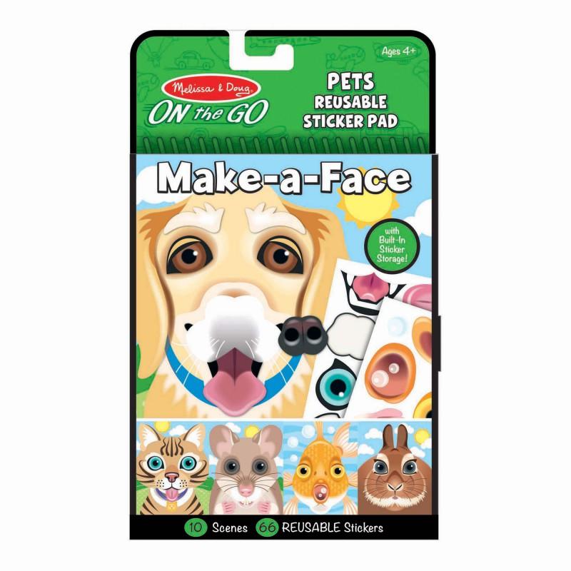 Herbruikbaar stickerblok huisdieren, Melissa & Doug