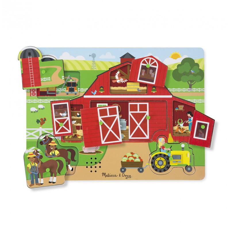 Geluidenpuzzel boerderij, Melissa & Doug
