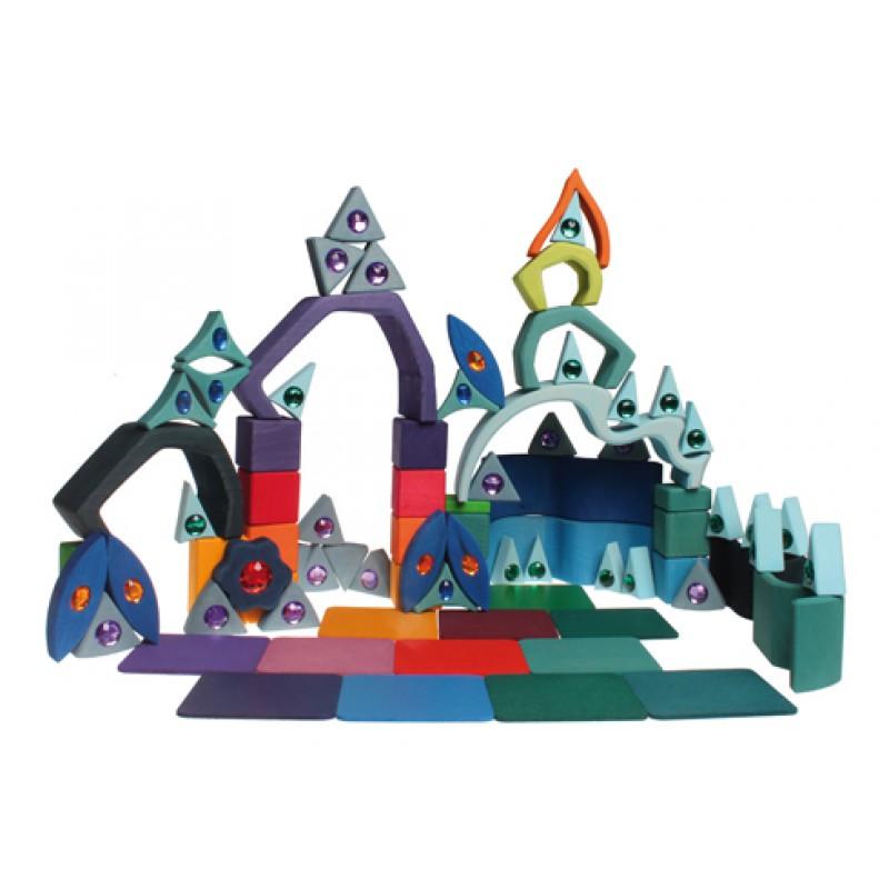 Houten puzzel glittermandala, Grimm's