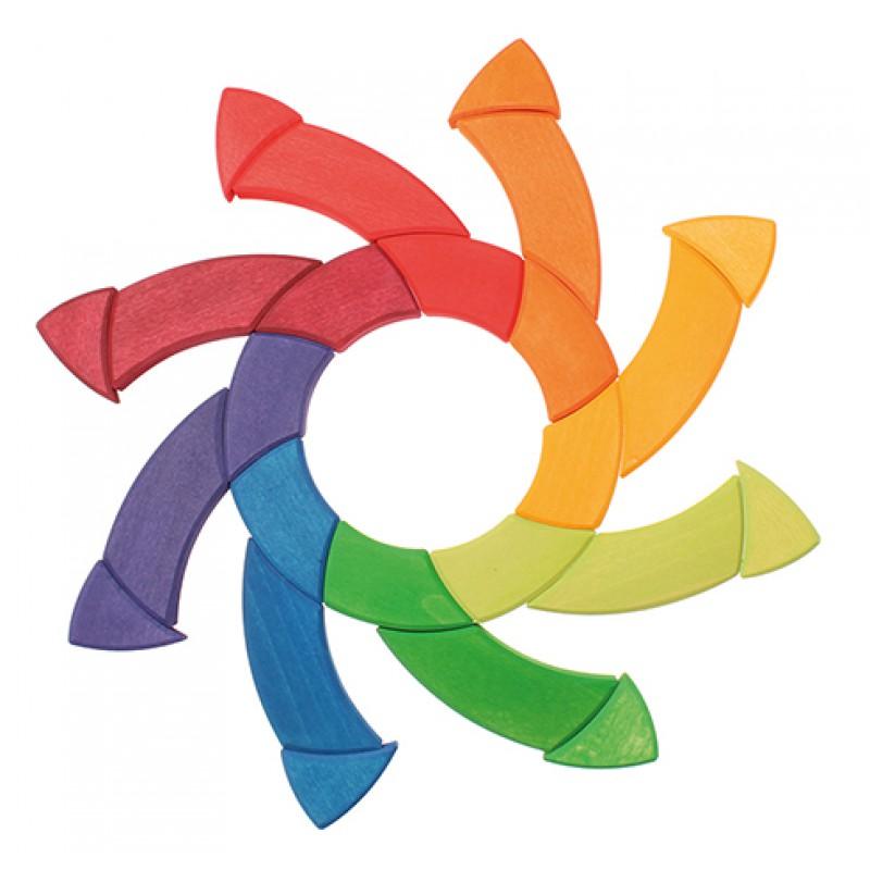 Grote blokkenpuzzel kleurencirkel Goethe