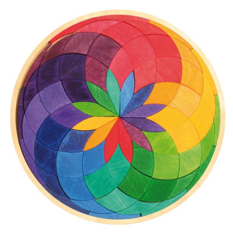 Houten puzzel kleurenspiraal, Grimm's