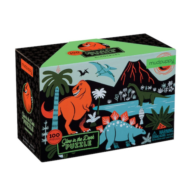Glow-in-the-dark puzzel Dinosauriërs, Mudpuppy