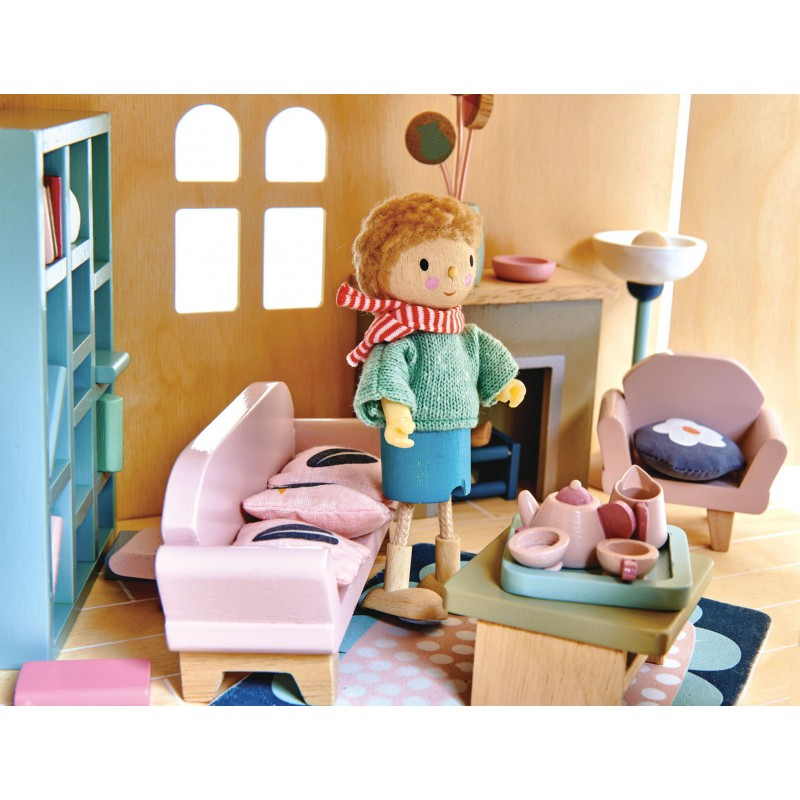 Woonkamer poppenhuis, Tender Leaf Toys