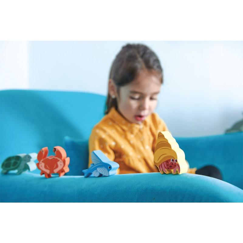 Set zeedieren in kastje, Tender Leaf Toys