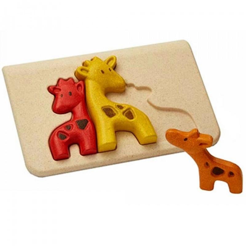 Chunky puzzel giraffen, Plan Toys