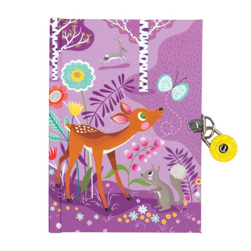 Dagboek met slot Forest Animals, Mudpuppy