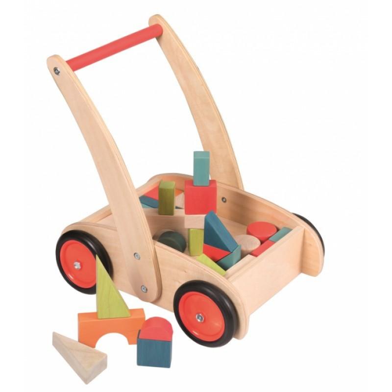 Duwkar met blokken, Egmont Toys