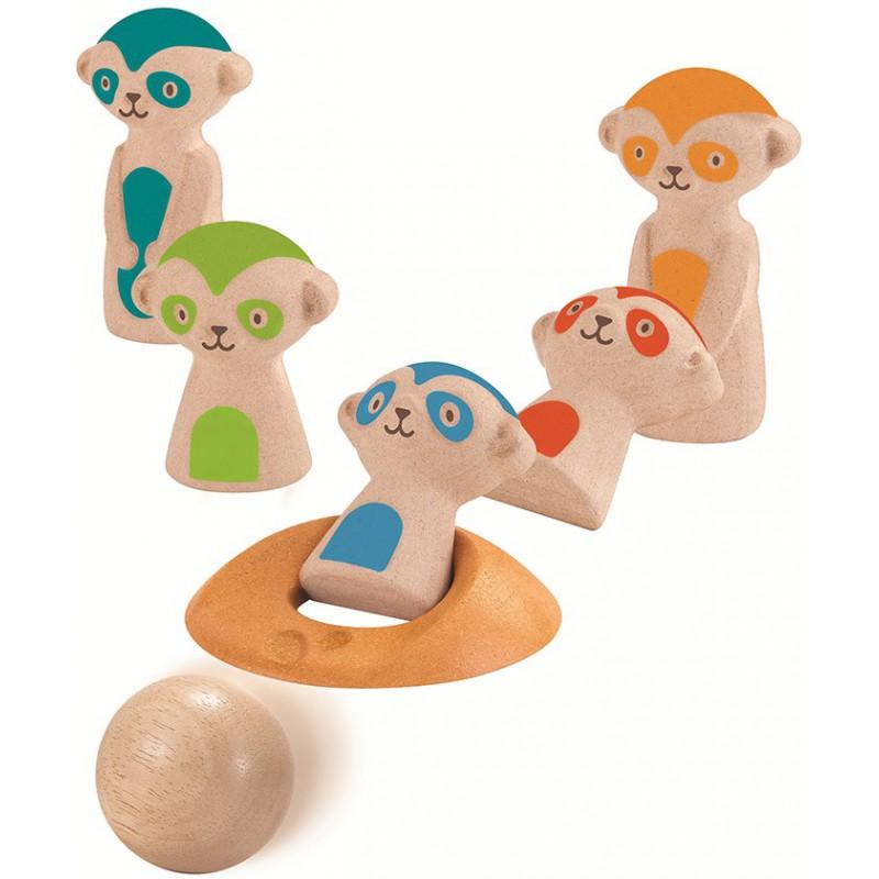 Meerkat bowling, Plan Toys