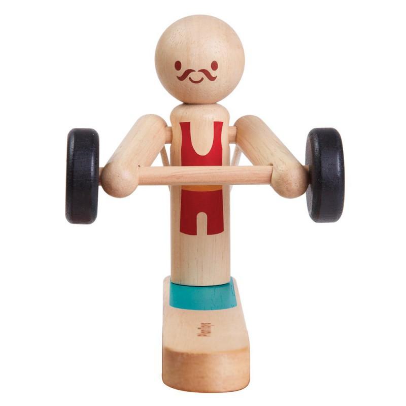 Gewichtheffer acrobaat, Plan Toys