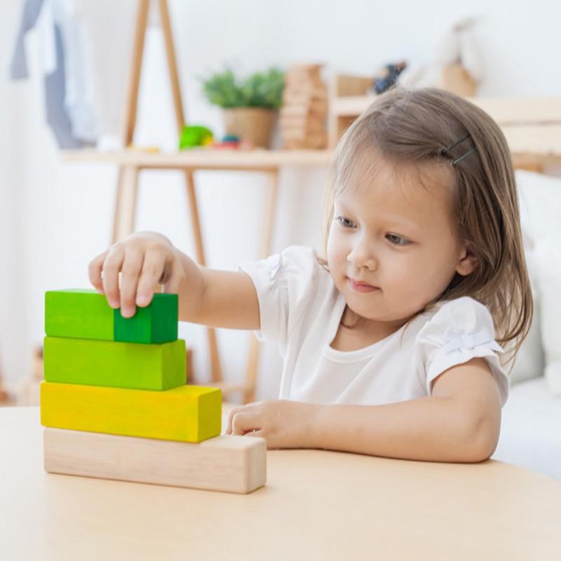 Hoogte blokken, Plan Toys