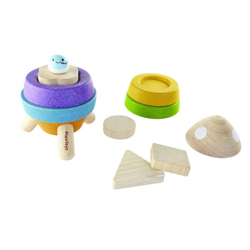 Sorteerpuzzel raket, Plan Toys