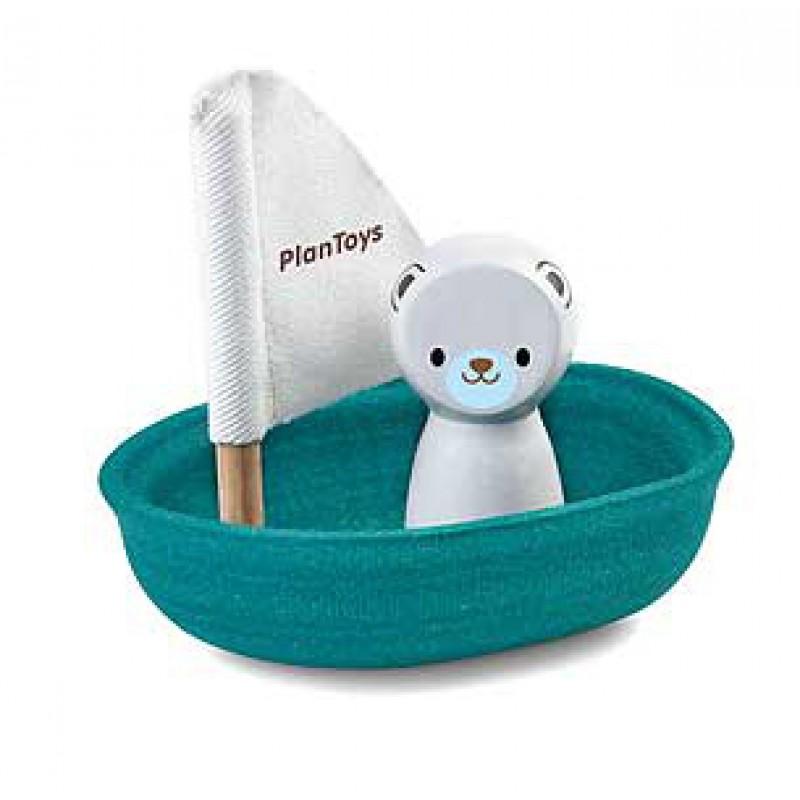 Zeilboot ijsbeer, Plan Toys