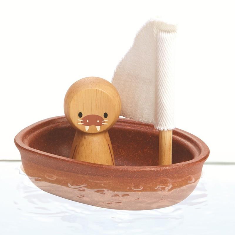 Zeilboot walrus, Plan Toys