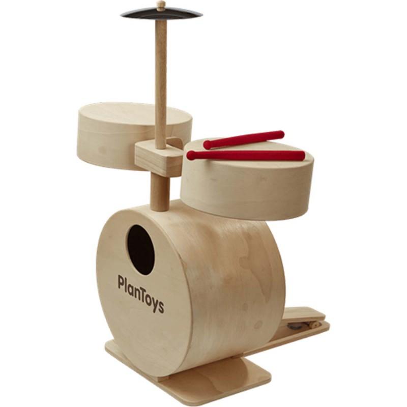 Drumstel naturel, Plan Toys