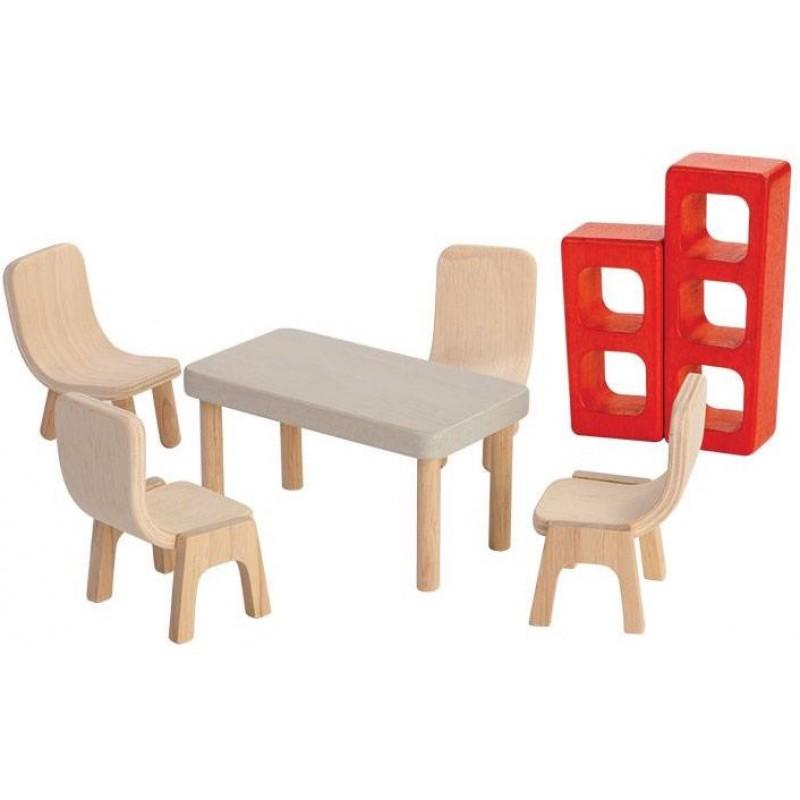 Eetkamer poppenhuis, Plan Toys