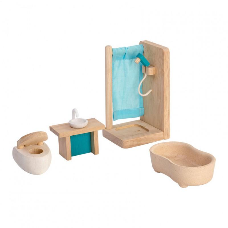 Badkamer poppenhuis, Plan Toys