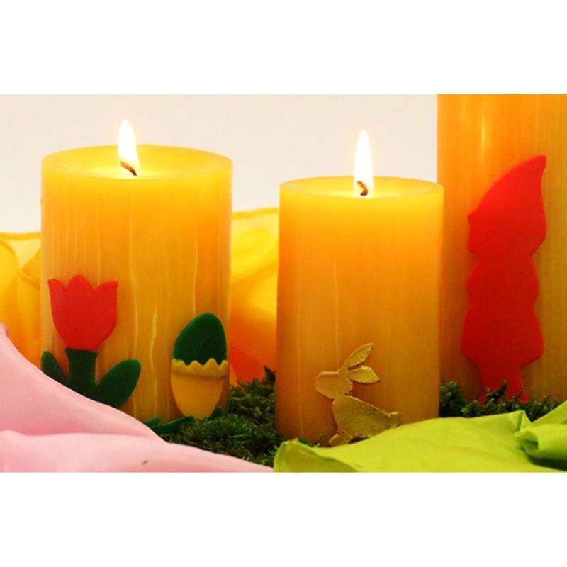 Kaarsen versierwas breed 12 kleuren, Stockmar