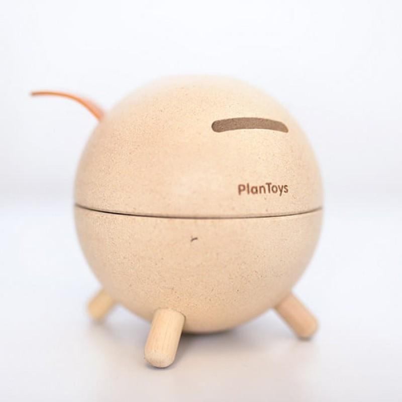 Spaarvarken beige, Plan toys