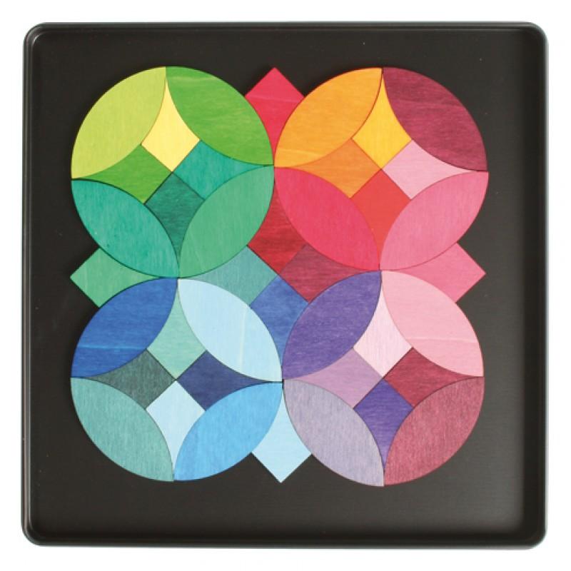Magneetpuzzel grafische cirkels, Grimm's