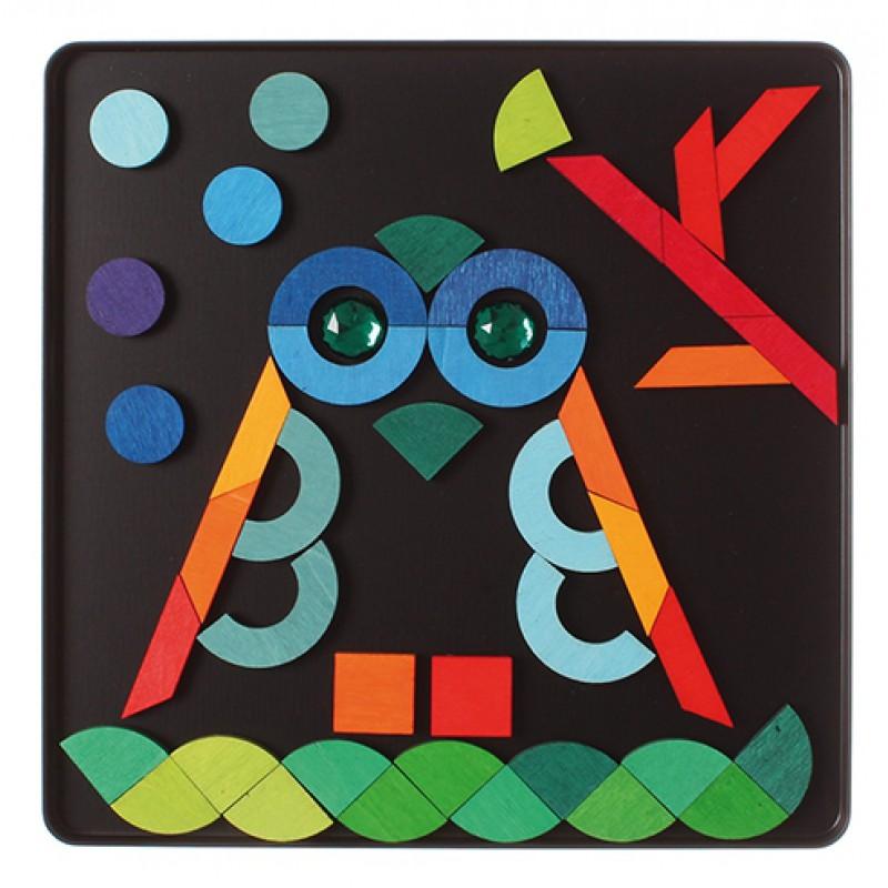 Magneetpuzzel basisvormen, Grimm's