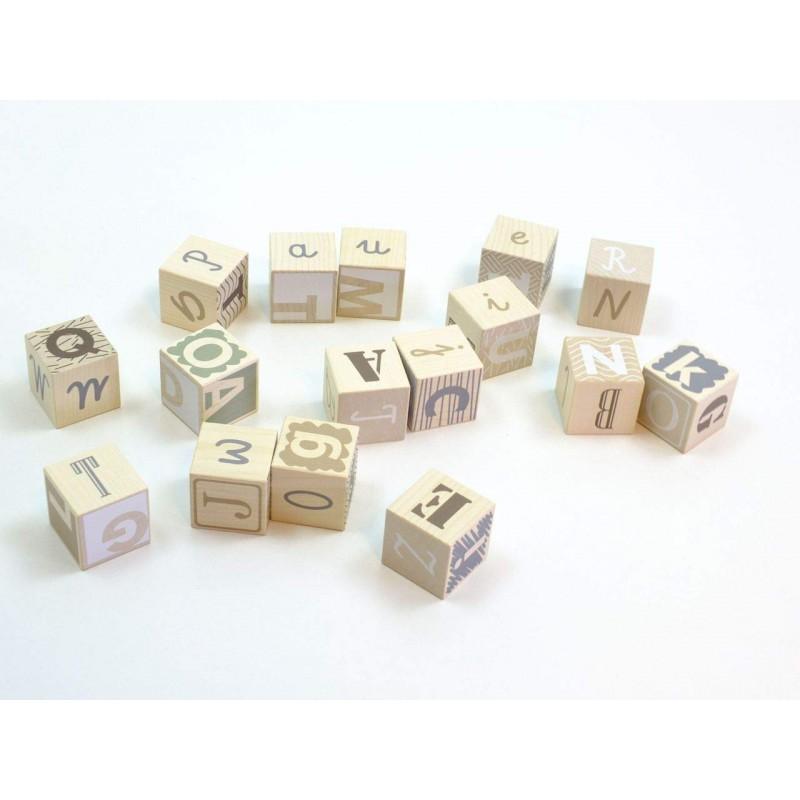 Earth Colours alfabet blokken, Bajo