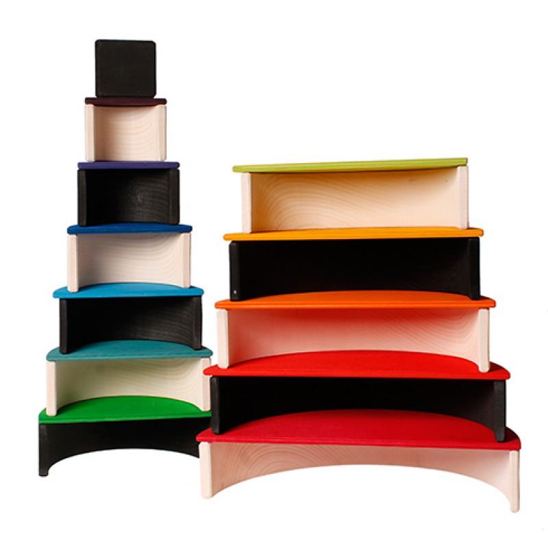 Grote houten regenboog monochrome, Grimm's