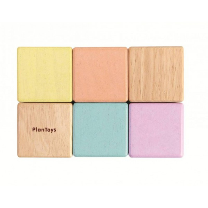 Activity blokken pastel, Plan Toys