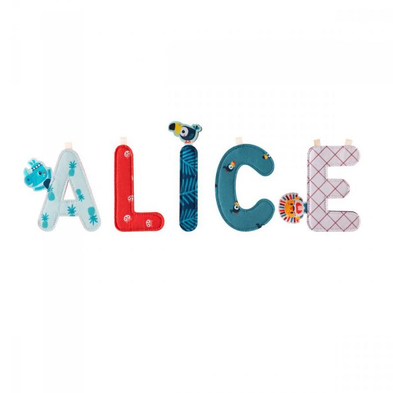 Stoffen letter E Jack, Lilliputiens