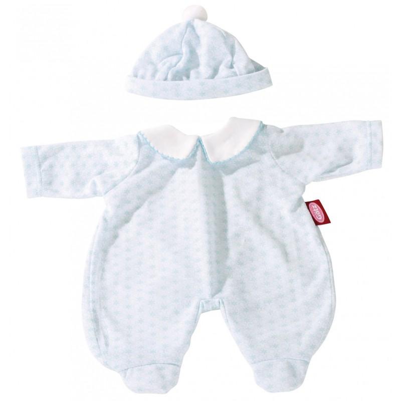 Blauw pakje babypop S, Goetz