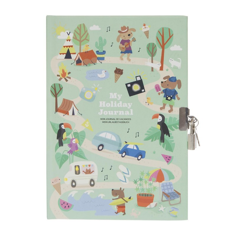 Dagboek met slot My Holiday Journal, Tiger Tribe