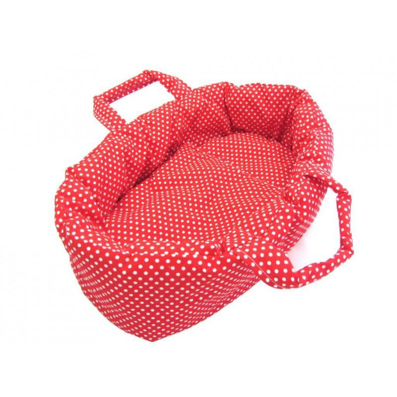Rode poppenreiswieg 47 cm