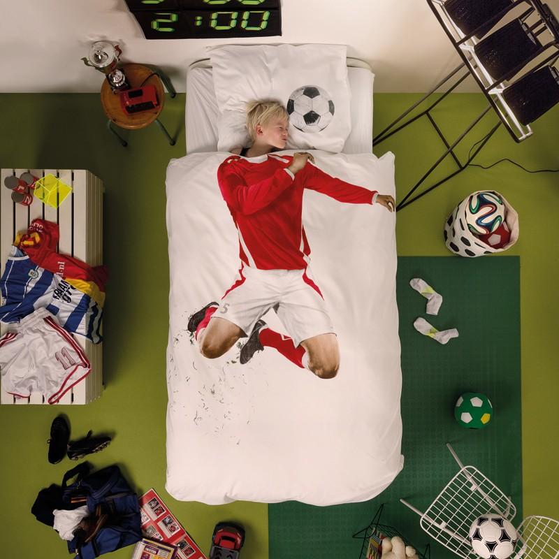 Dekbedovertrek Soccer Champ rood, Snurk