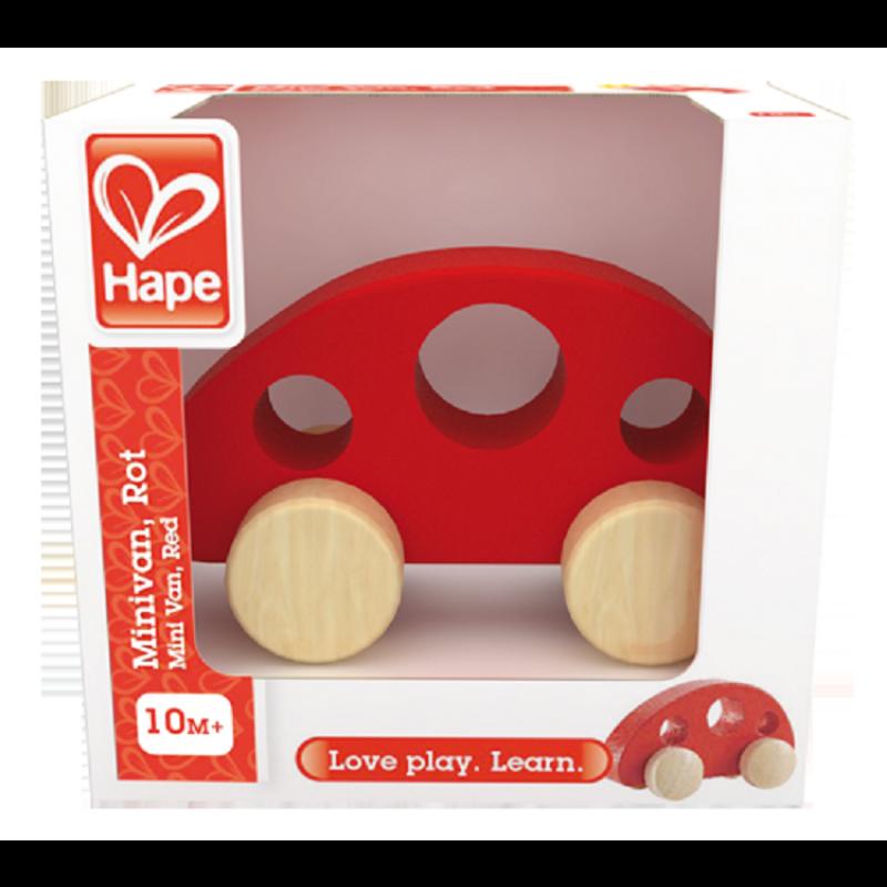 Rode houten auto, Hape