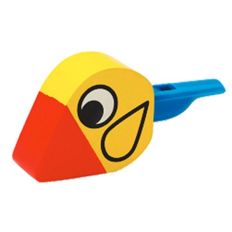 Houten vogelfluitje geel, Hape