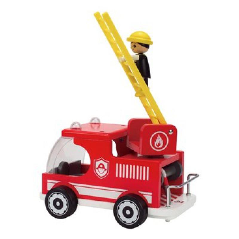 Brandweerwagen met spuitgast, Hape