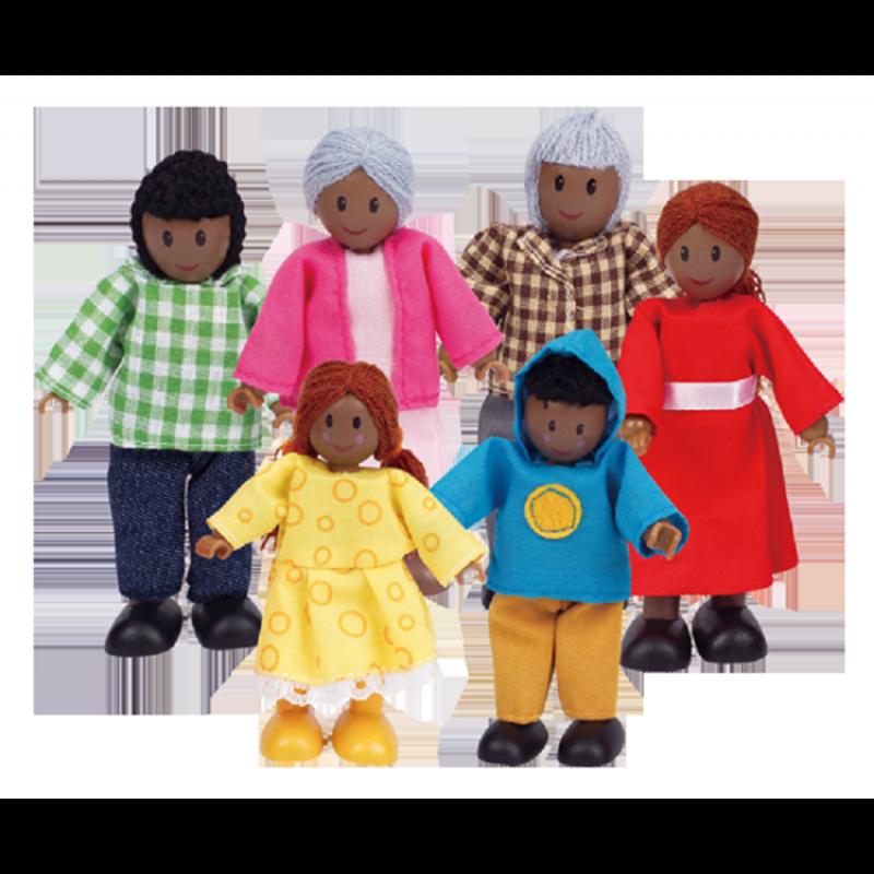 Poppenhuisfamilie bruin, Hape