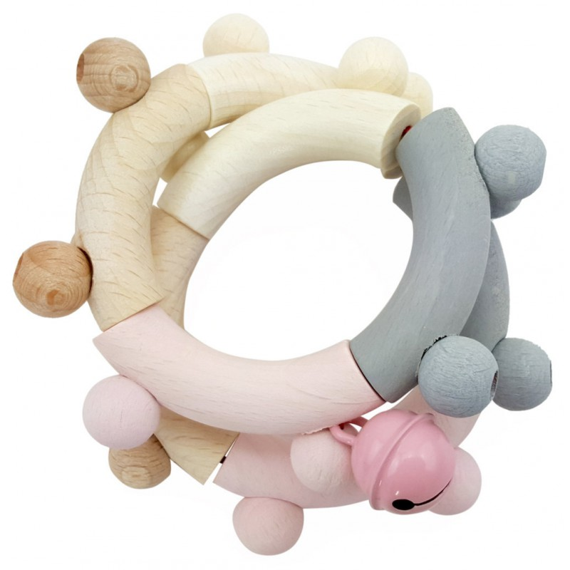 Flexibele rammelaar Acht roze, Hess